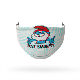 Smurfs Papa Smurf Just Smurfy Reusable Cloth Face Mask