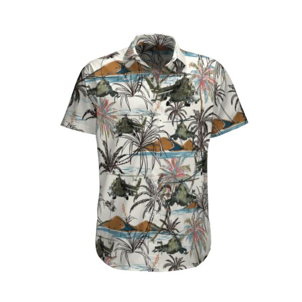 United States Army Mil Mi-24 Hawaiian Beach Shirt, Shorts