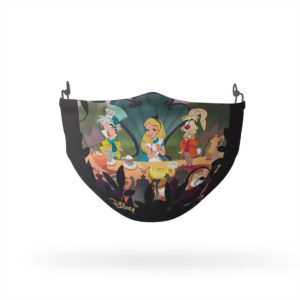 Alice in Wonderland Very Merry Unbirthday Reusable Cloth Face Mask