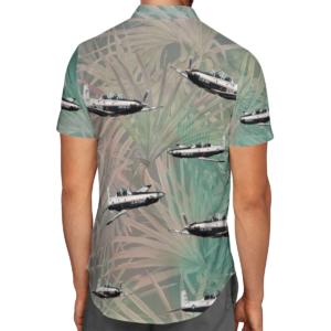 Beechcraft T-6 Texan II Hawaiian Beach Shirt, Shorts