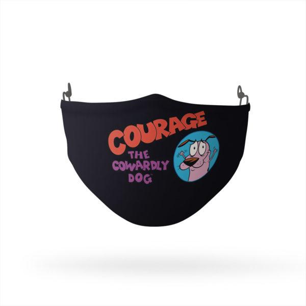 Courage the Cowardly Dog Courage Logo Reusable Cloth Face Mask