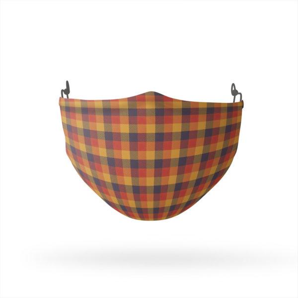 Autumn Plaid Reusable Cloth Face Mask
