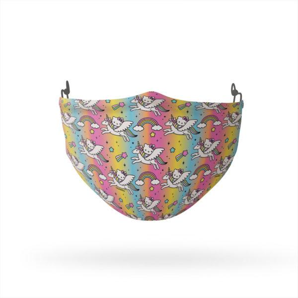 Hello Kitty Flying Unicorn Pattern Reusable Cloth Face Mask