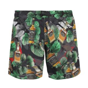 US Bourbon Whiskey Jack Daniels Hawaiian Beach Shirt, Shorts