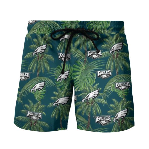 Philadelphia Eagles Tropical Palm Tree Hawaii Shirt, Shorts