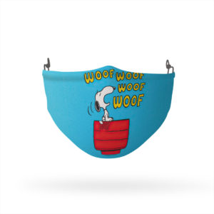 Peanuts Snoopy Woof Woof Reusable Cloth Face Mask