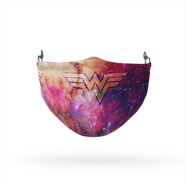 Wonder Woman Galaxy Logo Reusable Cloth Face Mask