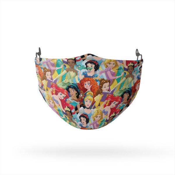 Disney Princess Colorful Collage Reusable Cloth Face Mask