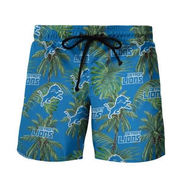 Detroit Lions Tropical Palm Tree Hawaii Shirt, Shorts