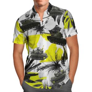 United States Army M48 Patton Tank Hawaiian Beach Shirt, Shorts