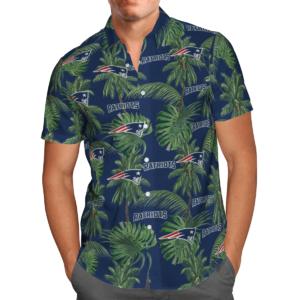 New England Patriots Tropical Palm Tree Hawaii Shirt, Shorts