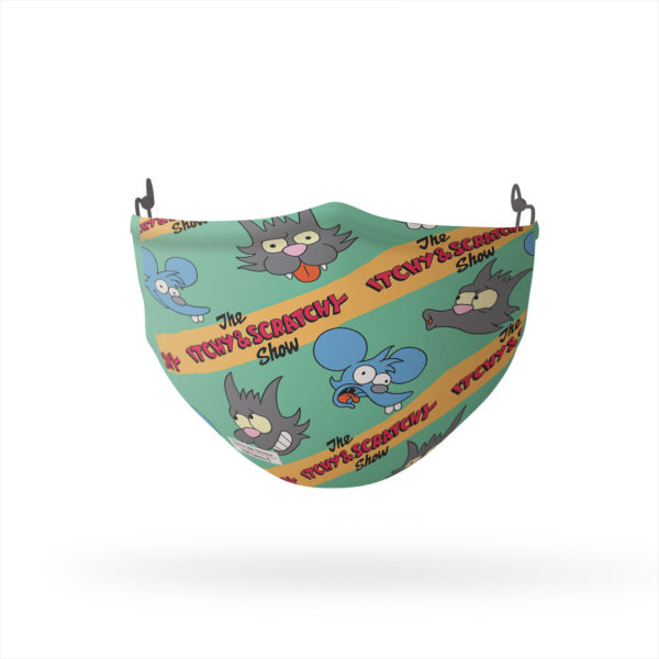The Simpsons Itchy and Scratchy Reusable Cloth Face Mask