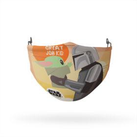 The Mandalorian Grogu Good Job Kid Reusable Cloth Face Mask