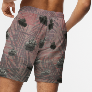 Army M48 Patton Tank Hawaiian Beach Shirt, Shorts