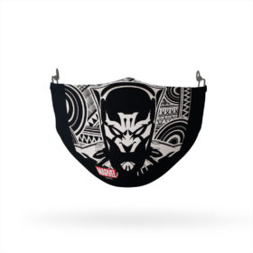Black Pantern Bold Geometric Reusable Cloth Face Mask