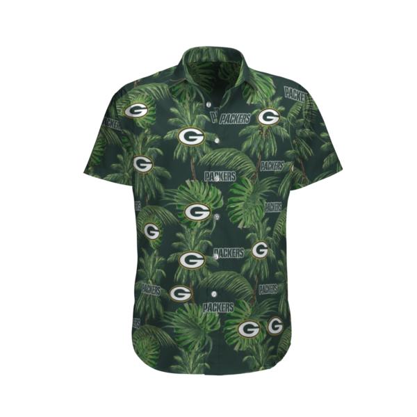 Green Bay Packers Tropical Palm Tree Hawaii Shirt, Shorts