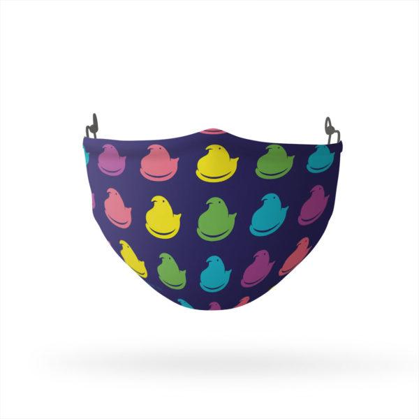 PEEPS Rainbow Peeps Pattern Reusable Cloth Face Mask