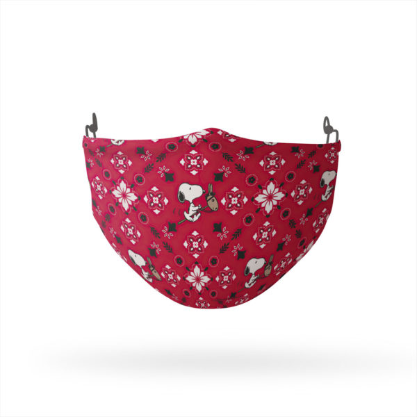 Peanuts Snoopy Red Paisley Reusable Cloth Face Mask