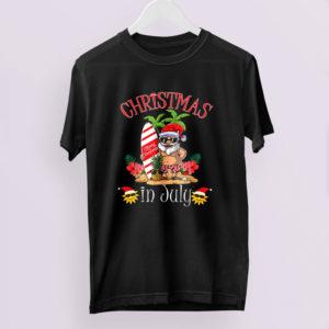 Christmas In July Shirt Funny Santa Summer Beach Vacation