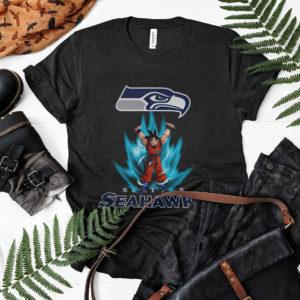 Son Goku Powering Up In Energy Seattle Seahawks Shirt