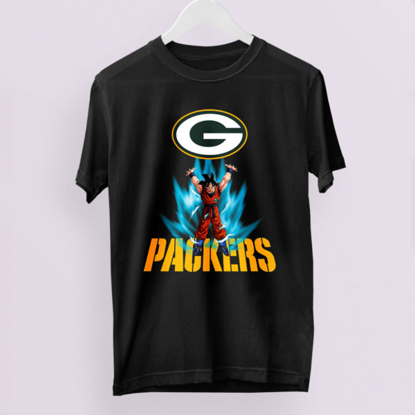 Son Goku Powering Up In Energy Green Bay Packers Shirt