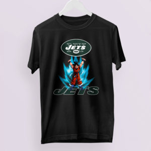 Son Goku Powering Up In Energy New York Jets Shirt