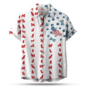 Cockapoo Dog American Flag 4th of July Hawaiian shirt