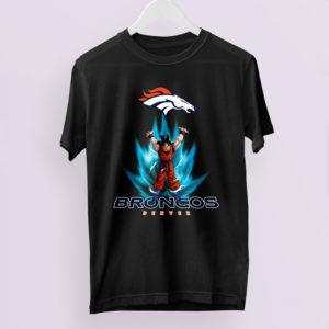 Son Goku Powering Up In Energy Denver Broncos Shirt