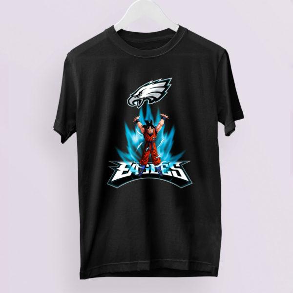 Son Goku Powering Up In Energy Philadelphia Eagles Shirt