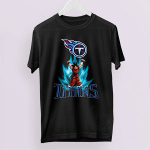 Son Goku Powering Up In Energy Tennessee Titans Shirt