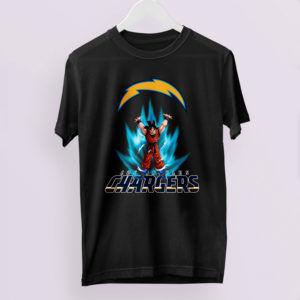 Son Goku Powering Up In Energy Los Angeles Chargers Shirt