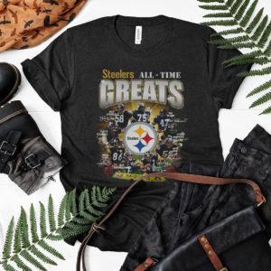 Steelers All-Time Greats Signatures Shirt, Pittsburgh Steelers, Troy Polamalu, Joe Greene Signatures