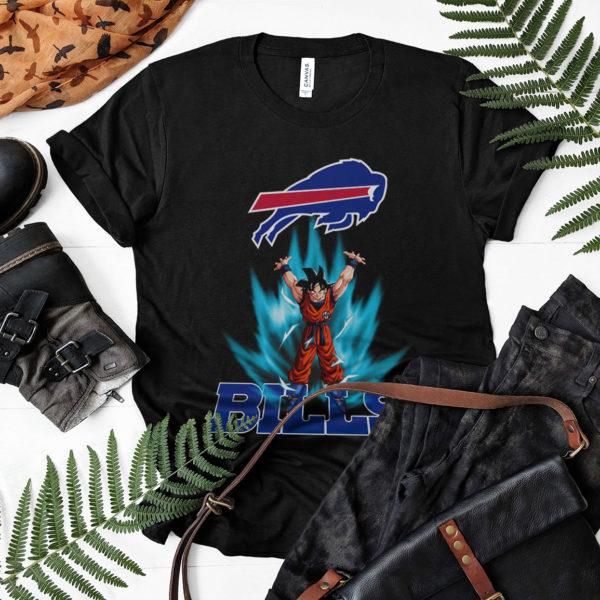 Son Goku Powering Up In Energy Buffalo Bills Shirt