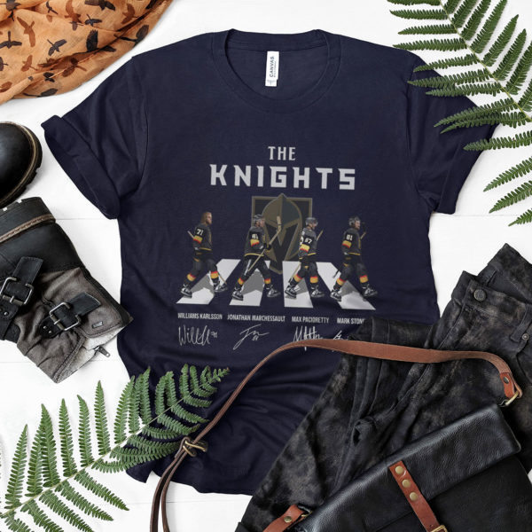 The Knights Abbey Road Signatures Shirt, Vegas Golden Knights