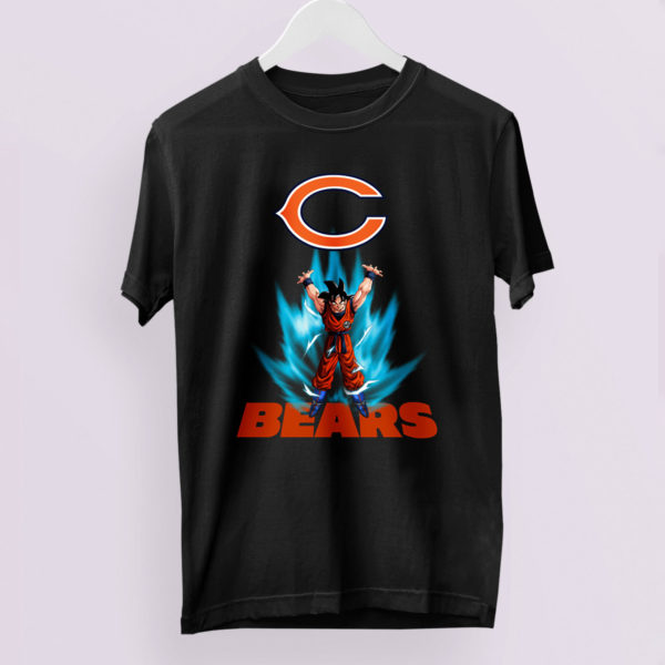 Son Goku Powering Up In Energy Chicago Bears Shirt