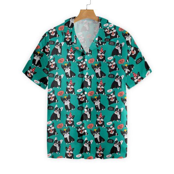 Dog French Bulldog Happy Animals Hawaiian Shirt