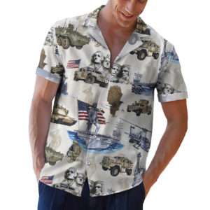 Symbols of America Patriotism 4th of July Button Up Shirt