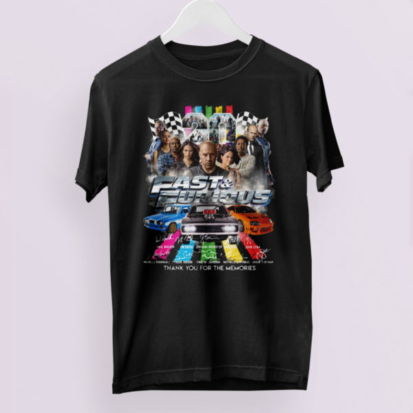 Fast And Furious Signatures Thank You For The Memories 2021 Shirt
