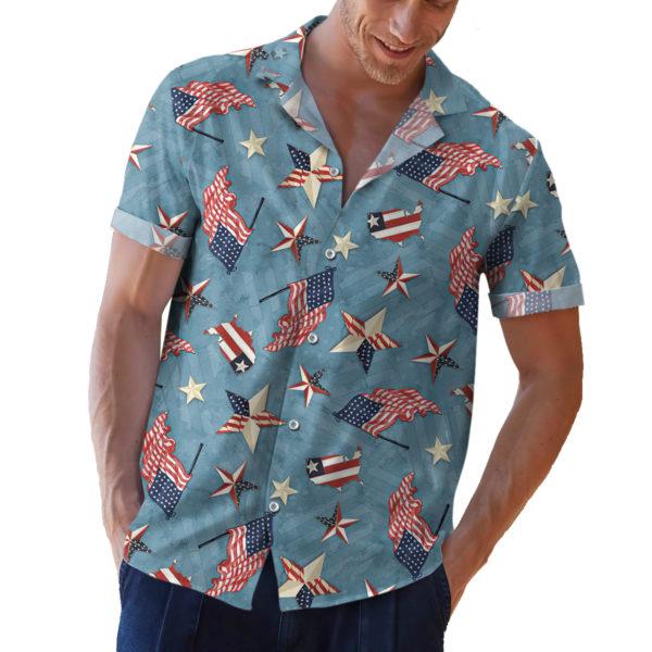 Wilmington American Valor Patriotic 4th of July Hawaiian Shirt