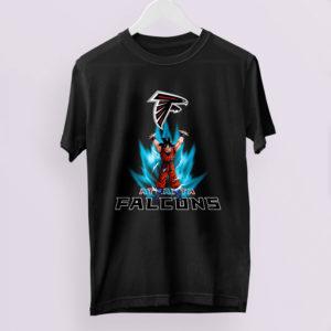 Son Goku Powering Up In Energy Atlanta Falcons Shirt