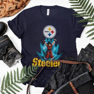 Son Goku Powering Up In Energy Pittsburgh Steelers Shirt