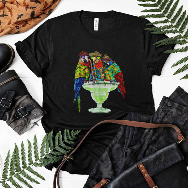 Parrots Drinking Margarita Hawaiian Shirt