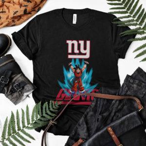 Son Goku Powering Up In Energy New York Giants Shirt
