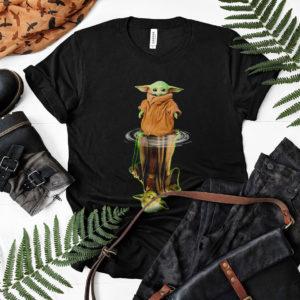 Baby Yoda And Reflection Water Reflection Master t-shirt