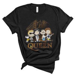 Comic Style Snoopy Dog Queen Band Peanuts T-Shirt