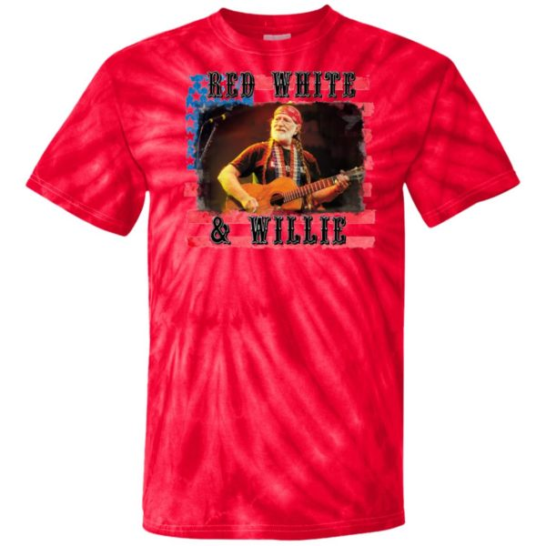 Willie Nelson Red White and Willie 4th of July Tie Dye shirt