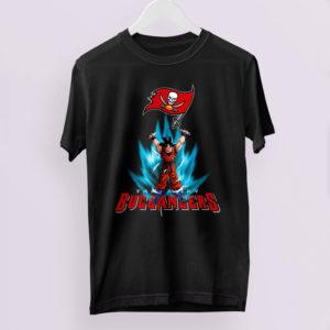 Son Goku Powering Up In Energy Tampa Bay Buccaneers Shirt