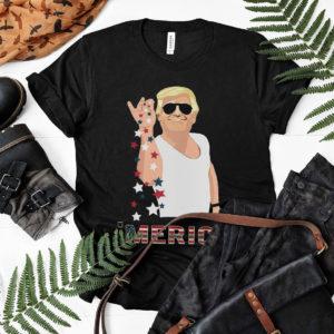 Salt Bae Style Funny 4th of July Trump T-Shirt