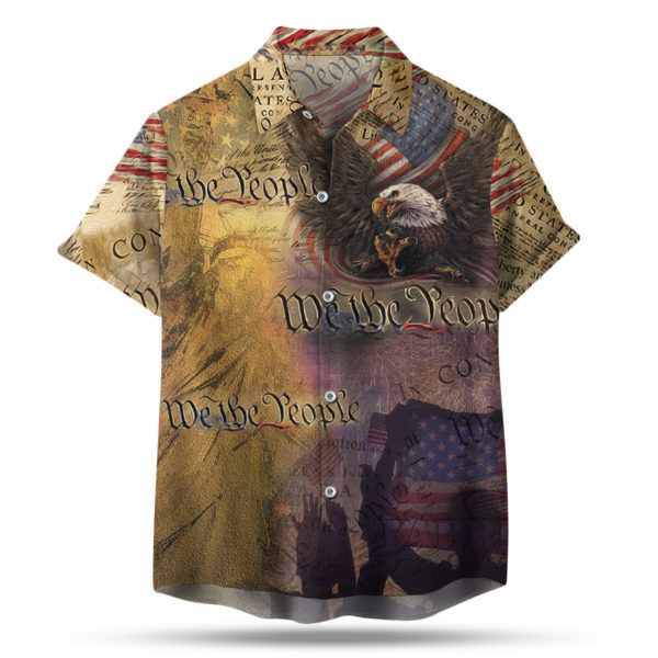 4th of July Us American Flag Hawaiian Shirt