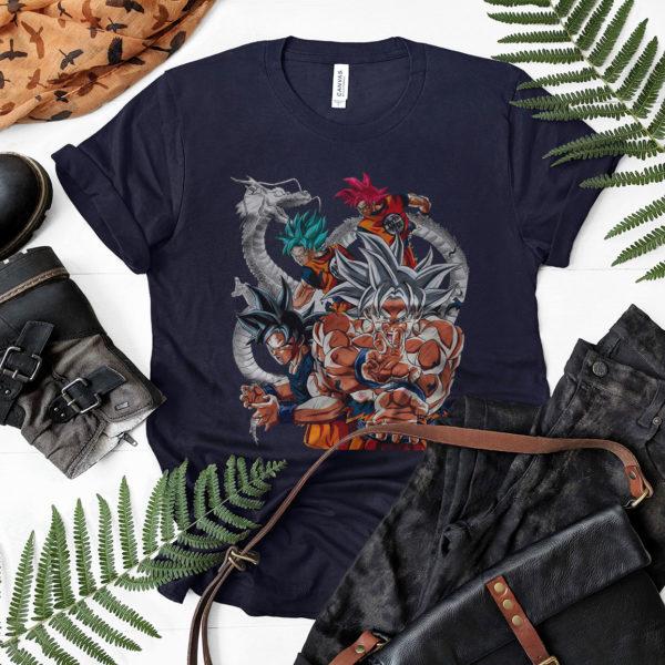 Son Goku All Transformation Forms T-Shirt